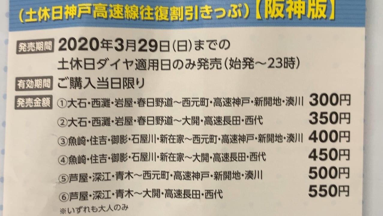 阪神&高速神戸割引チケット